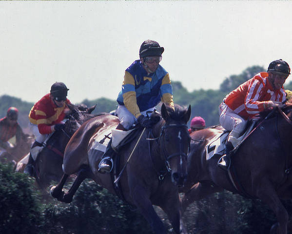 Steeplechase Poster featuring the photograph Steeplechase - 3 by Randy Muir