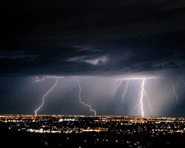 Lightning Poster featuring the photograph Steppin' Out by Cathy Franklin