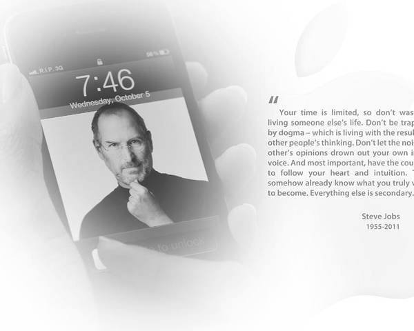 Steve Jobs Poster featuring the photograph Steve Jobs 2 by Anthony Rego