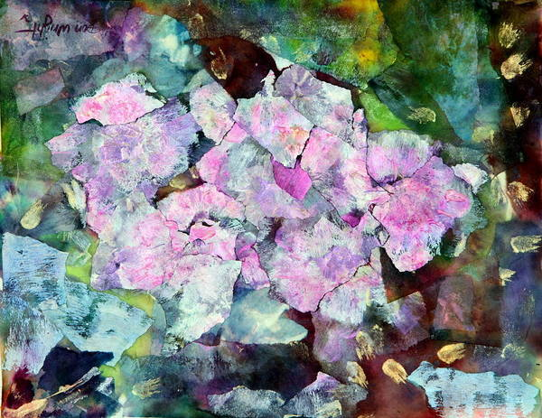 Sticky Poster featuring the painting Sticky Geranium by Don Wright