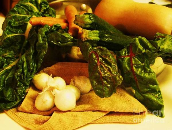 Vegetables Poster featuring the photograph Still Life And Then Dinner by Jamey Balester