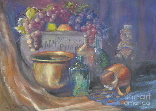 Still Life Paintings Poster featuring the painting Still Life Honey Bear by Penny Neimiller