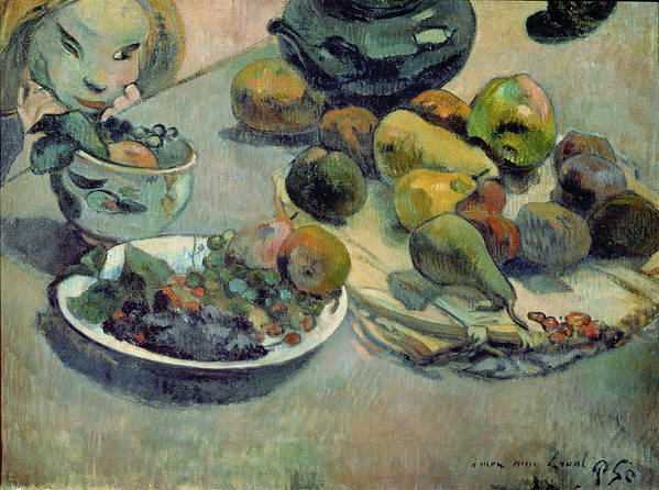 Still Life With Fruit Poster featuring the painting Still Life With Fruit by Paul Gauguin
