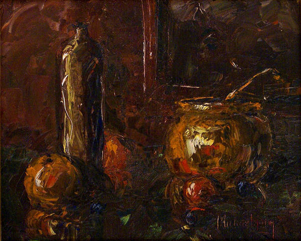 Still Life Poster featuring the painting Still by Michael Lang