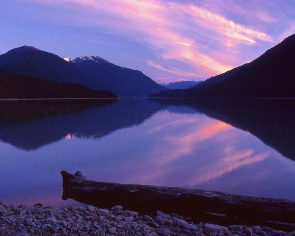 Abstract Poster featuring the photograph Stillness At Lillooet Lake by Lyle Crump