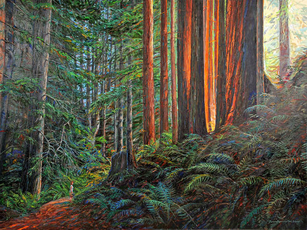 Landscape Poster featuring the painting Stillwater Cove Canyon Trail by Gary Symington