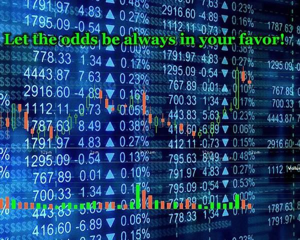 Interior Poster featuring the digital art Stock Exchange by Anastasiya Malakhova