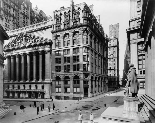 1908 Poster featuring the photograph Stock Exchange, C1908 by Granger