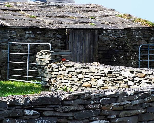 Irish Poster featuring the photograph Stone Barn Doolin Ireland by Teresa Mucha