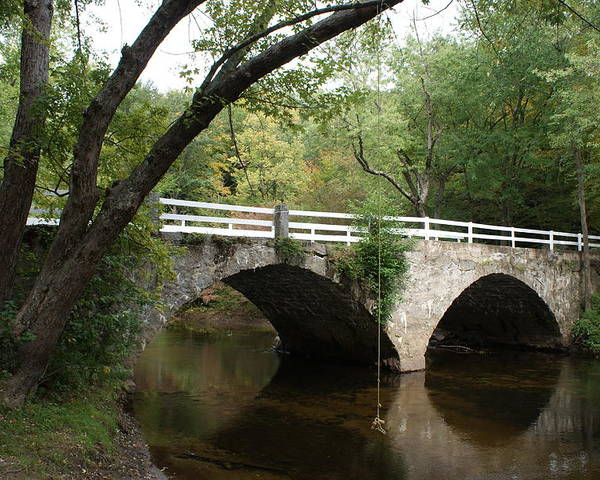 Scenic Poster featuring the photograph Stone Bridge by Lois Lepisto