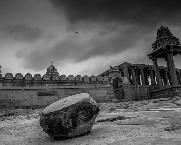 Lepakshi Temple  Poster featuring the photograph Stone Drum by Ramabhadran Thirupattur