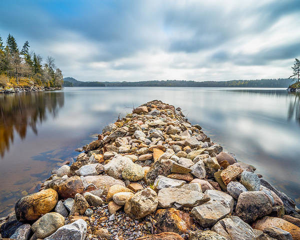 Lake Poster featuring the photograph Stone Jetty by James Billings