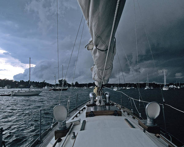 Storm Poster featuring the photograph Storm At Put-in-bay by John Harmon