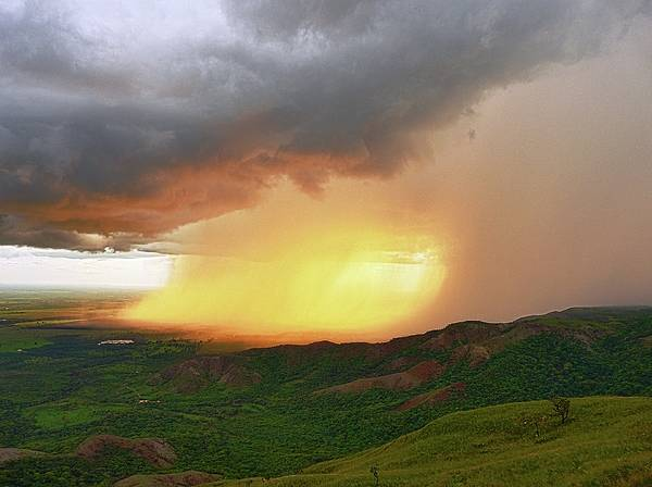 Rain Poster featuring the photograph Storm At The Sunset by Jose Carlos Patricio