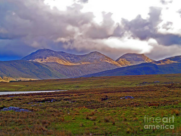 Fine Art Photography Poster featuring the photograph Storm Clouds Ahead In Connemara by Patricia Griffin Brett