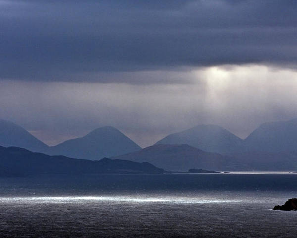 Scotland Poster featuring the photograph Storm Clouds On The Cuillins by John McKinlay