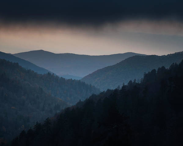 Smokies Poster featuring the photograph Storm Clouds Over The Smokies by Andrew Soundarajan