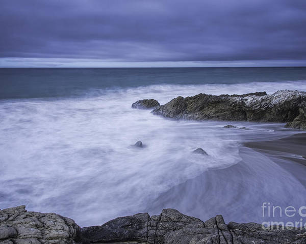 Seascapes Poster featuring the photograph Storm Comming In by Bill Baer