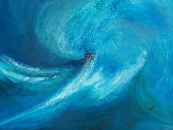 Landscape Poster featuring the painting Storm by Dennis Vebert