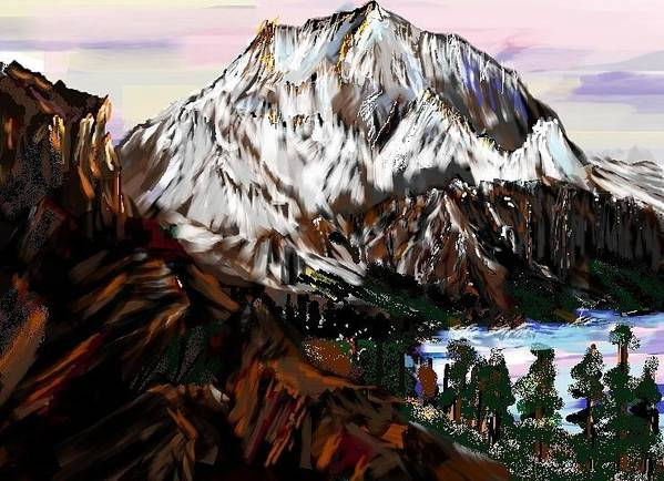 Mountain Poster featuring the digital art Storm King Mountain by Patricia Hengeveld