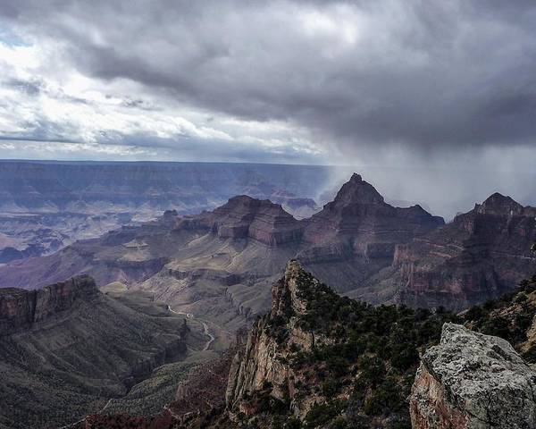 Storm Poster featuring the photograph Storm Over Grand Canyon by NaturesPix
