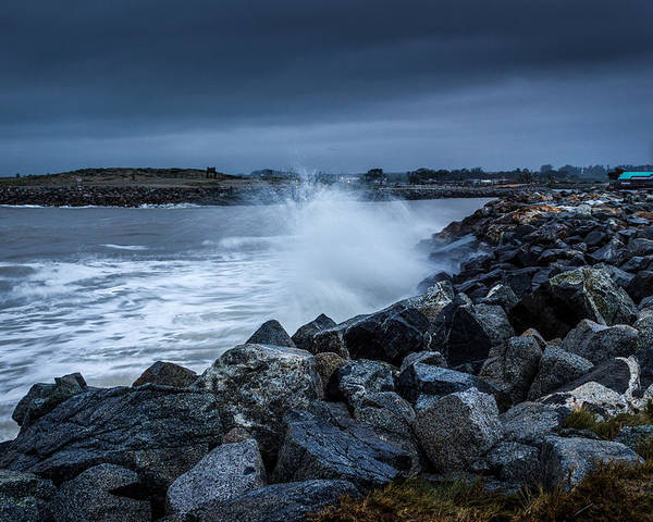 Jetty Poster featuring the photograph Storm Over The Jetty 1 by Joe Azevedo