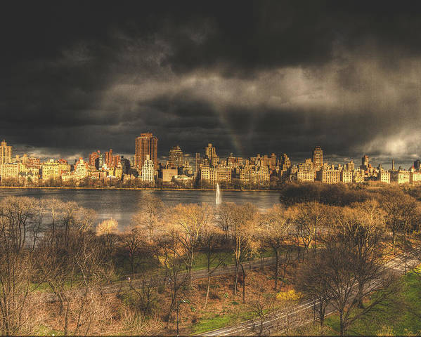 Central Park Poster featuring the photograph Storm Over The Park by Ariane Moshayedi