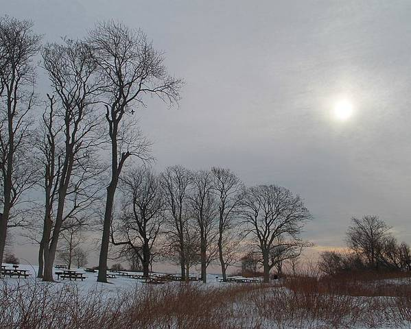 Landscape Poster featuring the photograph Storm Trilogy-two Harkness Memorial State Park by Geneva Renegar