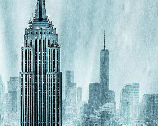 Empire State Building Poster featuring the digital art Storm Troopers by Az Jackson