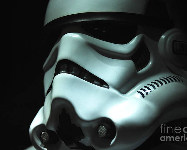Stormtrooper Poster featuring the photograph Stormtrooper Helmet by Micah May