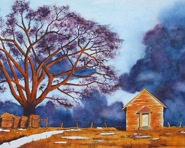 Storm Poster featuring the painting Stormy Afternoon by Ally Benbrook