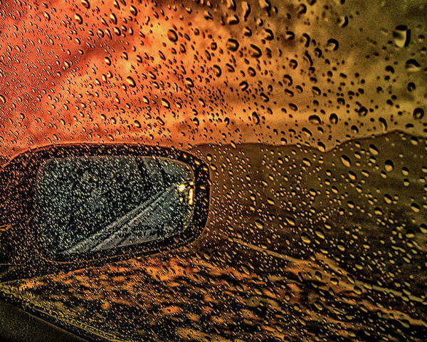 Rain Poster featuring the photograph Stormy Drive by Jim Painter
