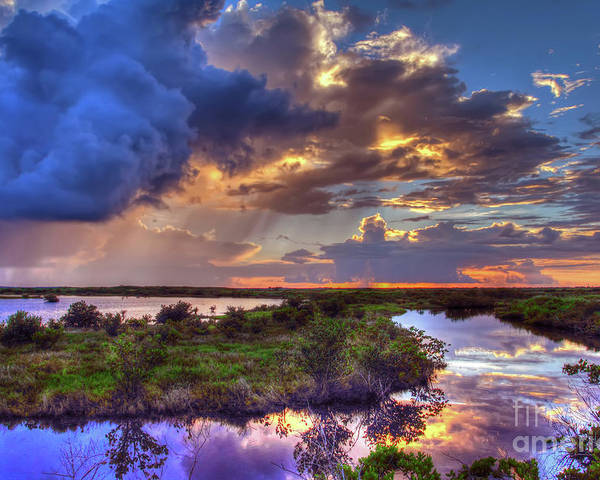 Landscape Poster featuring the photograph Stormy Sunrise by Rick Mann