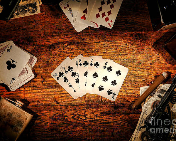 Western Poster featuring the photograph Straight Flush by Olivier Le Queinec