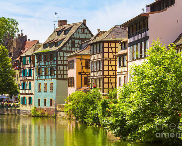 Alsace Poster featuring the photograph Strasbourg, Half-tmbered Houses, Petite France, Alsace, France by Marco Arduino