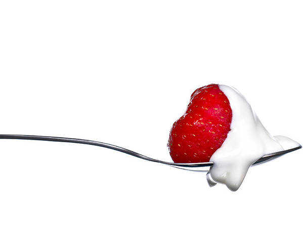 Aphrodisiac Poster featuring the photograph Strawberry And Cream by Gert Lavsen
