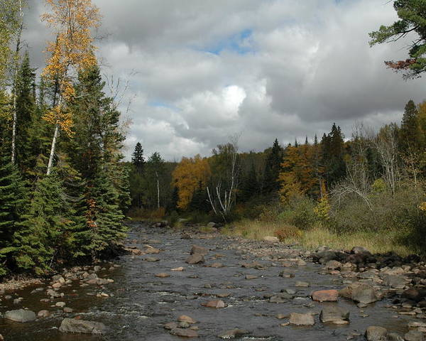 Nature Poster featuring the photograph Stream At Tettegouche State Park by Kathy Schumann