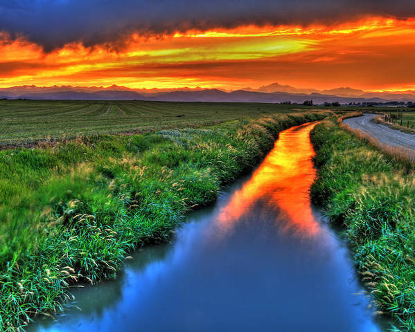 Colorado Poster featuring the photograph Stream Of Light by Scott Mahon