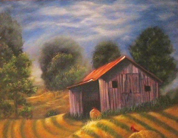 Landscape Poster featuring the painting Strong Hollow, Va by Sherry Strong