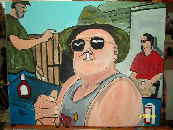 Outdoor Paintings Poster featuring the painting Studdy by Jeffrey Foti