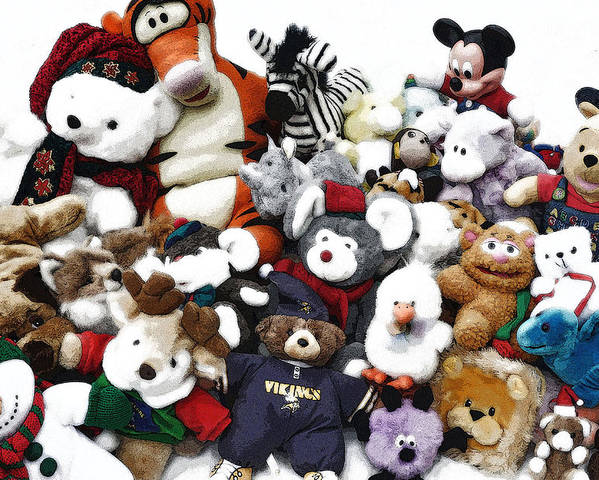 Animal Photo's Poster featuring the photograph Stuffed Animals by Brent Easley