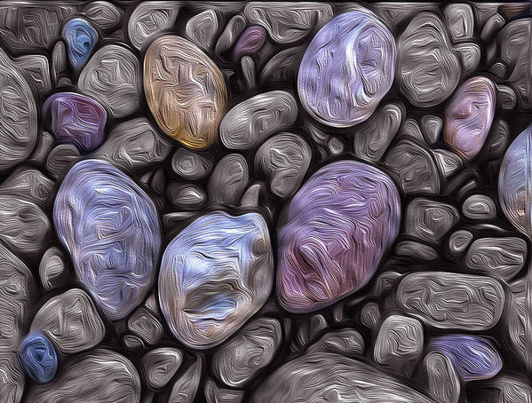 Beach Poster featuring the photograph Stylized Beach Stones On Lake Superior by Jeff Rennicke