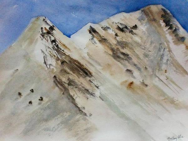 Mountain Poster featuring the painting Sublime Slopes by Trilby Cole