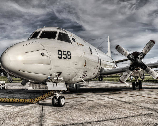 P-3 Poster featuring the photograph Submarine Hunter by Ryan Wyckoff