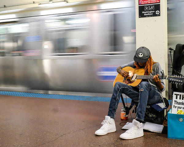 Chicago Poster featuring the photograph Subway Musician 10 by John McArthur