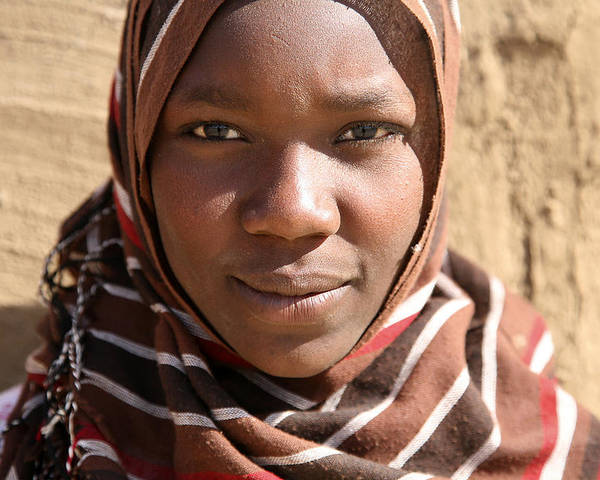 Sudan Poster featuring the photograph Sudanese girl by Marcus Best