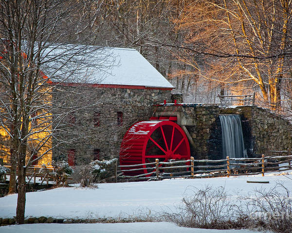 Boston Area Poster featuring the photograph Sudbury Gristmill by Susan Cole Kelly