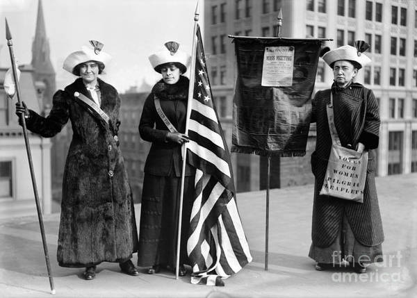 1910 Poster featuring the photograph Suffragettes, C1910 by Granger
