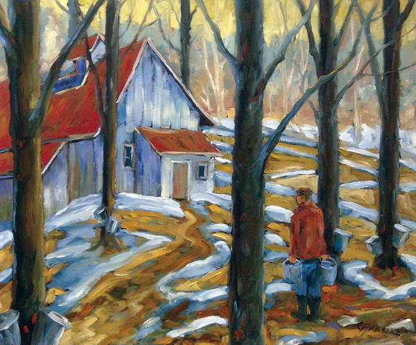 Suga Poster featuring the painting Sugar Bush by Richard T Pranke
