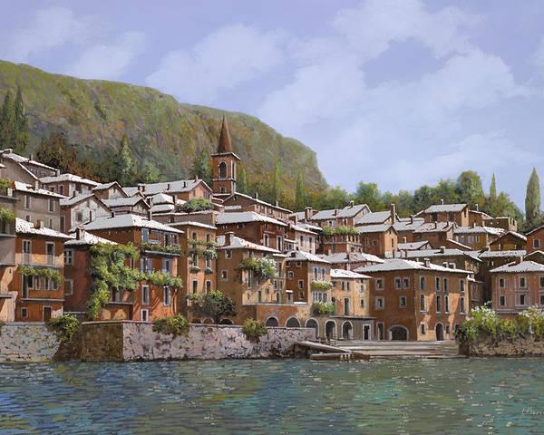 Lake Como Poster featuring the painting Sul Lago Di Como by Guido Borelli